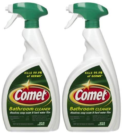comet non abrasive bathroom cleaner comet bathroom cleaner spray 32 oz 2 pk home garden