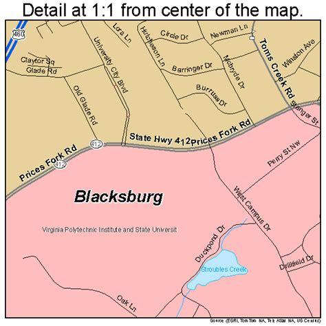 blacksburg va map blacksburg virginia map 5107784