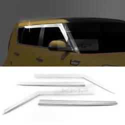 chrome window sun vent visor guards 4p k628 for kia