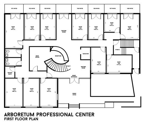 floor plan of building building floor plans arboretum professional center