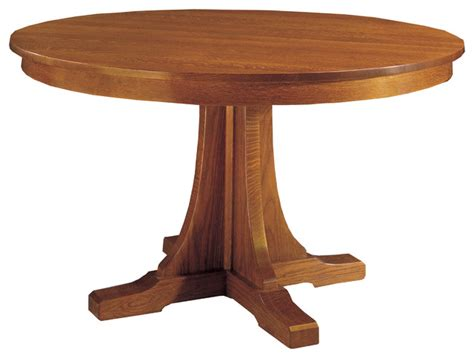 mission style dining room tables mission style round dining room table 187 dining room decor