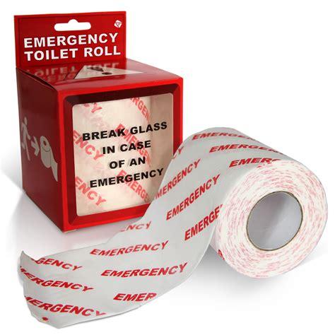 new emergency toilet roll novelty gift bathroom loo paper