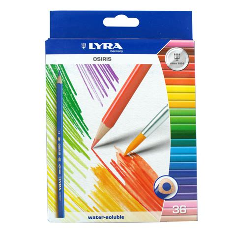 lyra osiris water soluble colored pencils 36 pencils assorted ebay