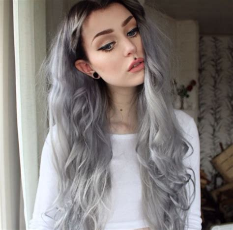 black at root of hair steel grey hair with black roots 176 hair pinterest