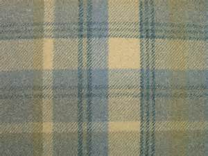 elgin bluebell blue wool effect washable thick tartan