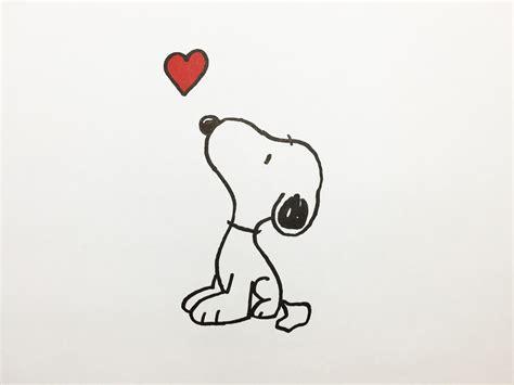 imagenes de snoopy de amor para dibujar how to draw snoopy como dibujar a snoopy youtube