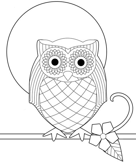 owl moon coloring page owl coloring pages full moon coloringstar