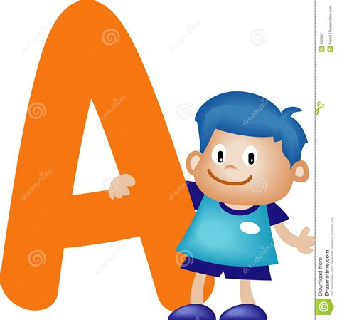 Letter For Boy Alphabet Letter A Boy Royalty Free Stock Photography Image 900457