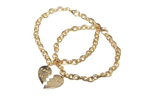partners in crime bff best friends heart charm bracelets