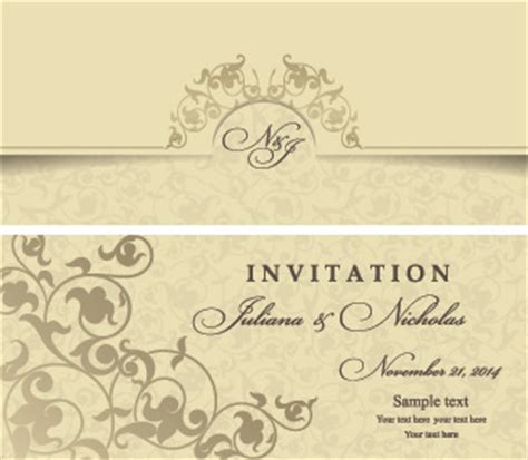 Wedding Invitation Letter Vector Free Wedding Invitation Card Format Free Vector 211 082 Files For Commercial Use Format