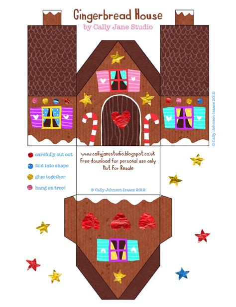 printable christmas houses we love to illustrate free gingerbread house download