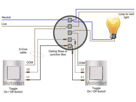 2 way intermediate lighting circuit wiring diagram