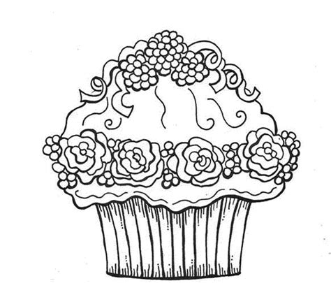 birthday cupcake coloring pages photo and pictures for