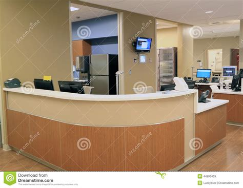 hospital front desk hiring hospital reception desk stock image image of commercial