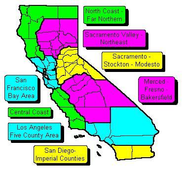 southern california zip code map california state regional zip code maps