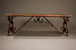 Wrought Iron And Wood Coffee Table Ornate Wrought Iron And Wood Coffee Table At 1stdibs