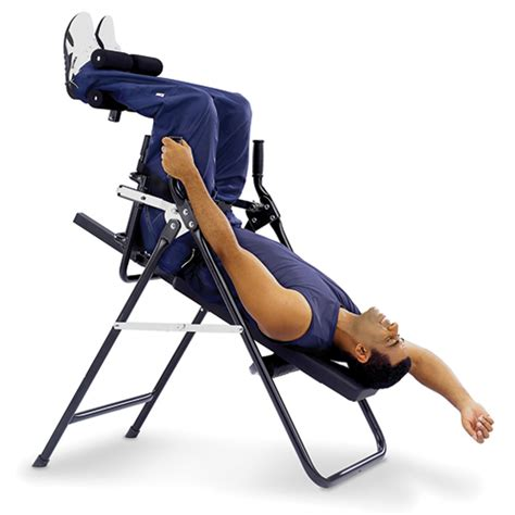incline table for back the stress minimizing inversion chair hammacher schlemmer