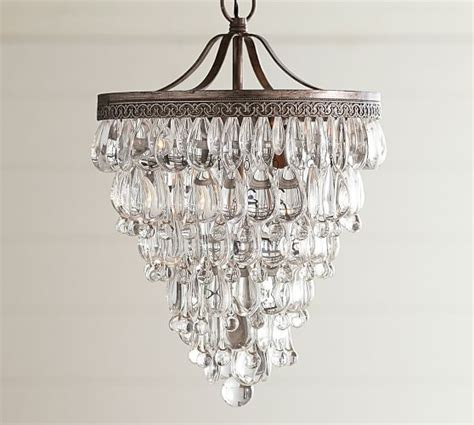 Pottery Barn Chandeliers Clarissa Drop Small Chandelier Pottery Barn