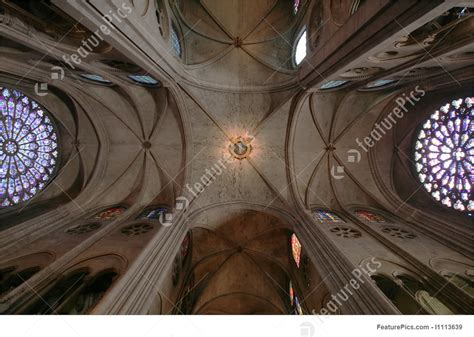 Notre Dame Ceiling by Notre Dame Ceiling Stock Photograph I1113639 At Featurepics