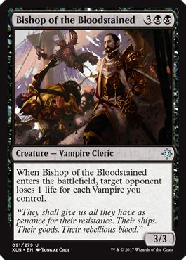 the of magic the gathering ixalan bishop of the bloodstained ixalan singles magic the