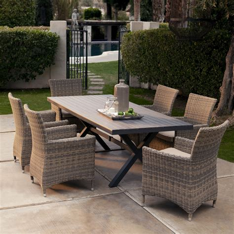 6 Seat Patio Dining Set Wicker Outdoor Patio Furniture Awesome All Weather Wicker Patio Dining Set Seats 6 Patio