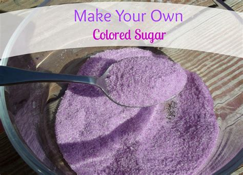 how to make colored sugar only 2 ingredient make your own colored sugar