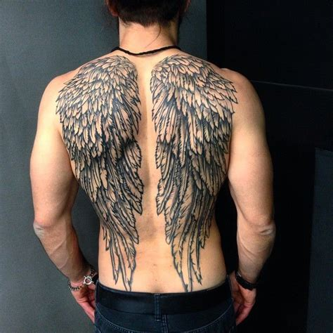 Angel Wing Tattoos For Men Tats Pinterest Popular Wings On Back Tattoos 2