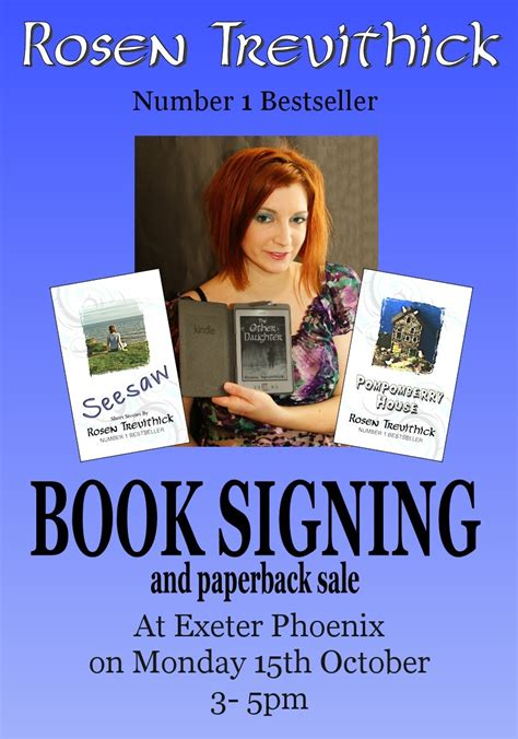 book signing poster template book signing event on 15th october at exeter