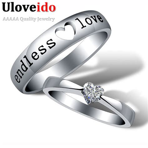 Wedding Bands Pair by Wedding Band Silver Ring Pair