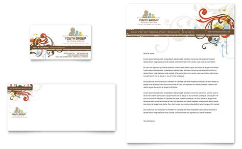 Church Youth Group Business Card Letterhead Template Design Youth Ministry Template