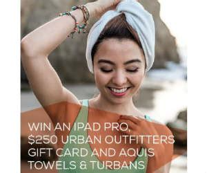 Urban Outfitters Gift Card Walgreens - win an ipad pro aquis hair towel 250 for urban outfitters free sweepstakes