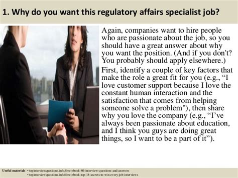How To Make A Job Resume Samples by Top 10 Regulatory Affairs Specialist Interview Questions