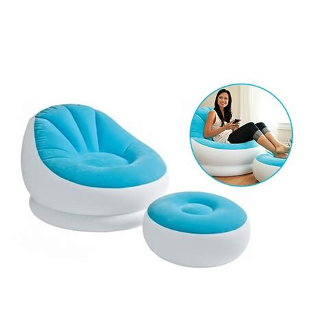 inflatable lounge chair with ottoman intex inflatable colorful cafe chaise lounge chair with