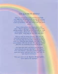 Rainbow bridge poem rainbow bridge poem version to download print