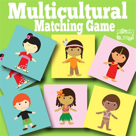 printable toddler matching games multicultural memory game free printables for kids