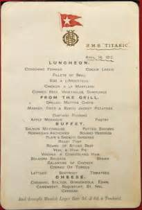 titanic class menu the titanic s menus and what they can tell us historians