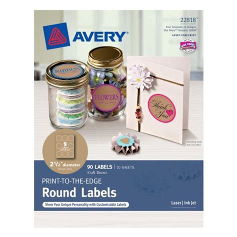 Avery Textured Print To The Edge Arched Labels Laser Printers 3 X 2 25 Inches White Pack Of Avery Circle Labels 2 Inch Template