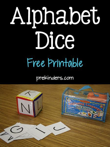 free printable alphabet dice 1000 images about letter recognition activities on