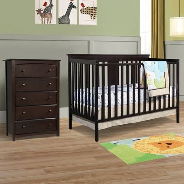 storkcraft kenton 5 drawer dresser espresso storkcraft 2 piece nursery set mission ridge convertible