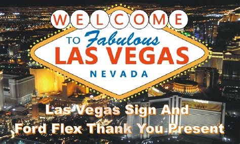 Back In Vegas by Back In Block Las Vegas Sign Ford Flex Thank You Gift