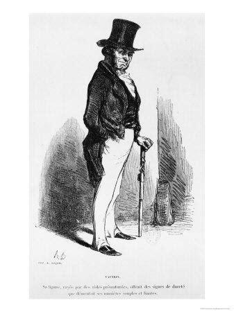 """Vautrin, Illustration from """"Le Pere Goriot"""" by Honore De"""