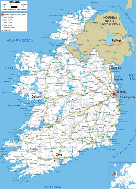 printable road maps ireland detailed clear large road map of ireland ezilon maps