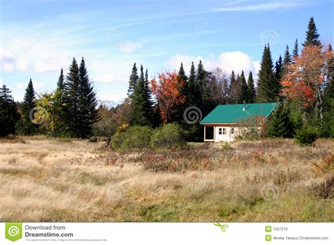 Northwoods Cabins by Northwoods Cabin Maine Royalty Free Stock Images Image