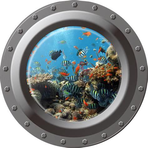 Ocean Wall Murals image gallery submarine window