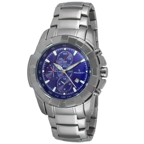 multi function sport blue peugeot watches