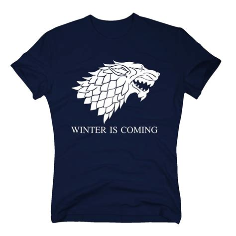 Tshirt Winter Is Coming Stark of thrones shirt herren t shirt winter is coming