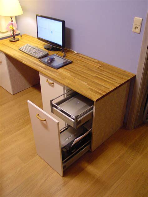 custom computer desk ikea hackers ikea hackers