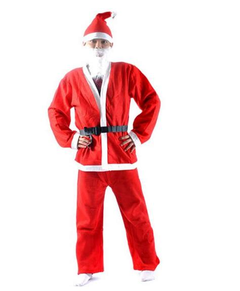Kostum Santa Santa Costume 1 Set 5pcs set santa claus costume set clothing cl12840951 in holidays costumes