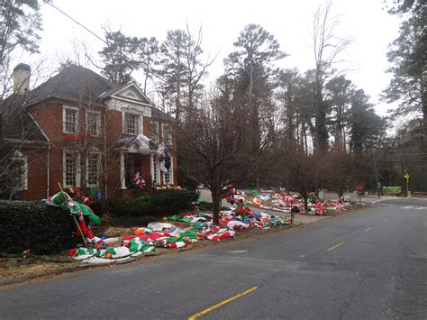 obnoxious christmas blowups display in brookhaven ga best or most obnoxious