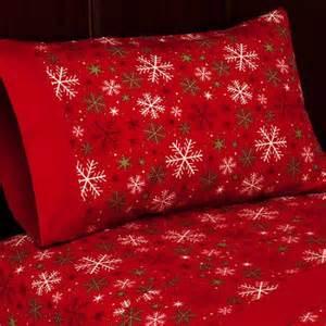 Red Coverlet King Holiday Flannel Sheet Set Walmart Com